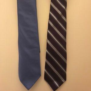 "Pair of Brooks Brothers ""346"" pure silk ties"